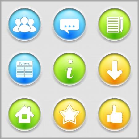 Social Media Icons Stock Vector - 17602240
