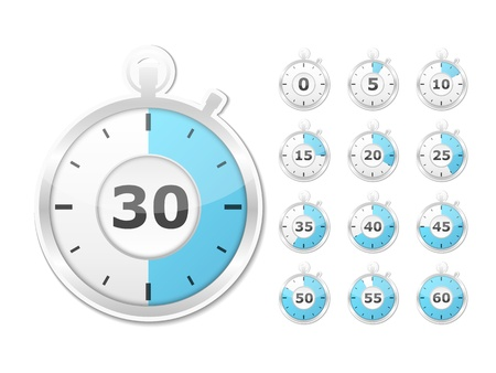 Set of paper timers Vector