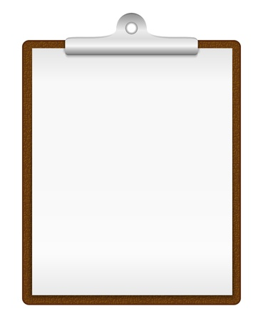 Clipboard with blank paper Stock Vector - 17872941
