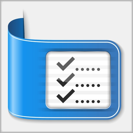 todo: Abstract icon of a check list Illustration