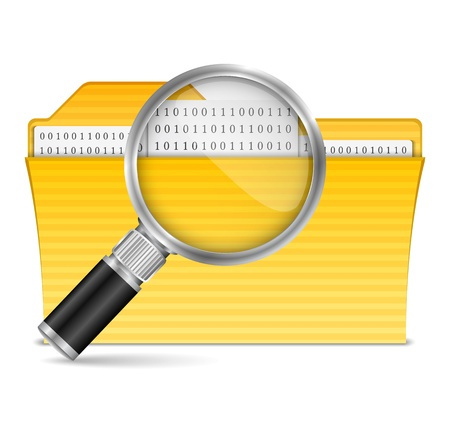 Search File Icon Stock Vector - 17872916