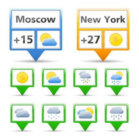 downpour: Weather indicators and icons