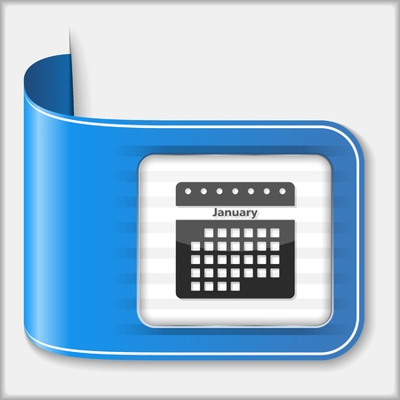 calender: Abstract icon of a calendar