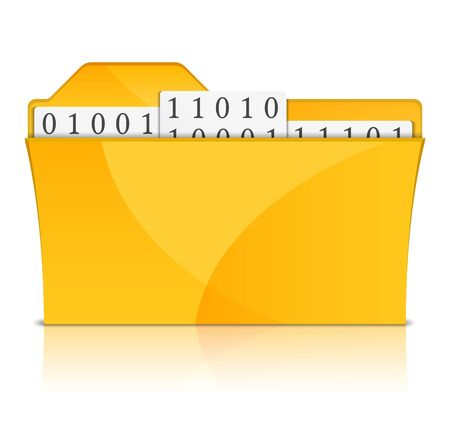 Yellow folder with files Vector
