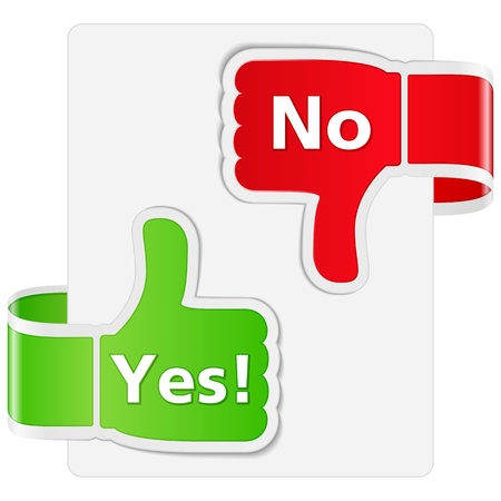 Yes and No Signs Vector