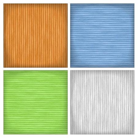 Set of four colored wood backgrounds Stock Vector - 18024189