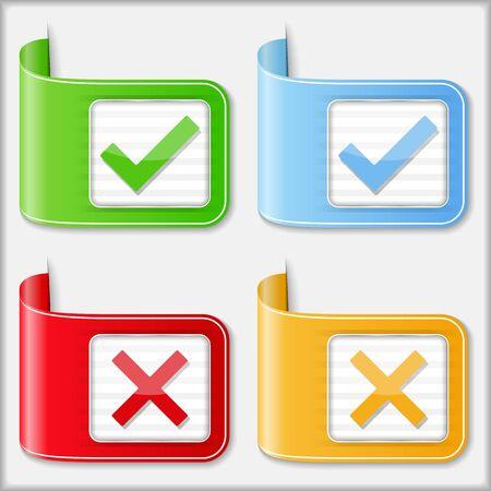 Check and cross symbols Stock Vector - 18167408