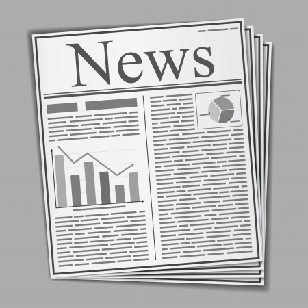 Newspaper with text and graphs on the front page Stock Vector - 18307786