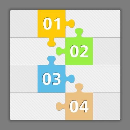 cuatro elementos: Plantilla de dise�o con cuatro elementos de hecho de las piezas del rompecabezas