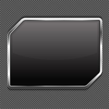 metal frame: Black frame on a metal background