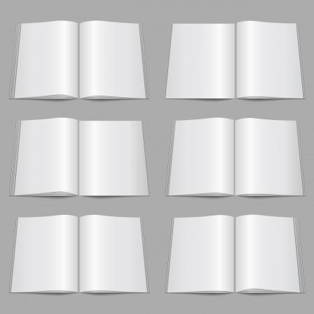 Set of blank magazine templates Stock Vector - 18460046