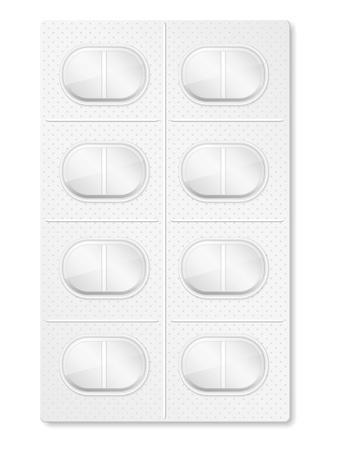 a tablet blister: Pills in blister pack Illustration