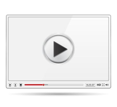 high volume: White video player template