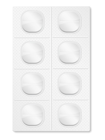 Pills in blister pack Stock Vector - 18625486