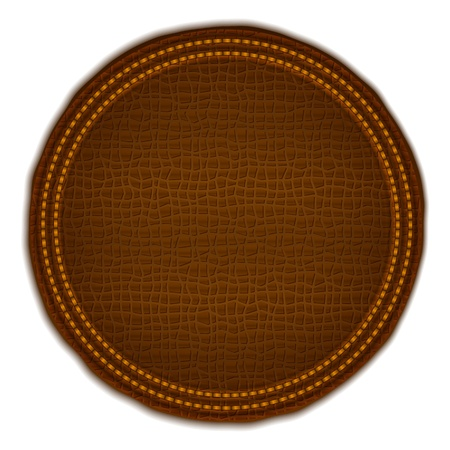 brown leather: Brown leather label