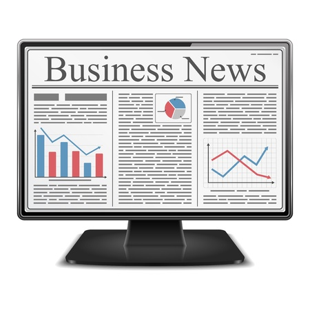 Business News in Computer Stock Vector - 18791029