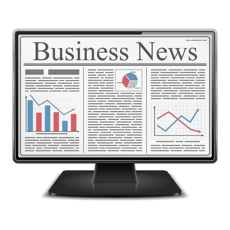 financial newspaper: Business News in Computer