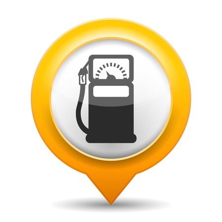 Gas Station Icono Ilustración de vector