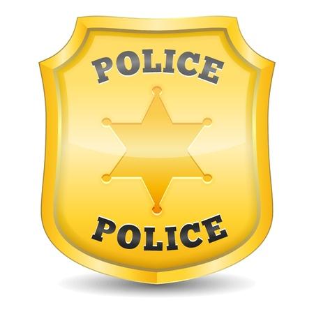 yıldız: Altın polis rozeti Çizim