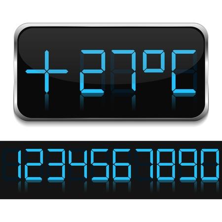 digital thermometer: Termometro digitale