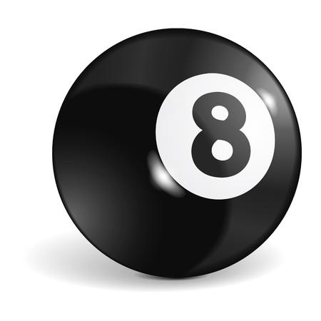 bola ocho: Bola de billar Vectores