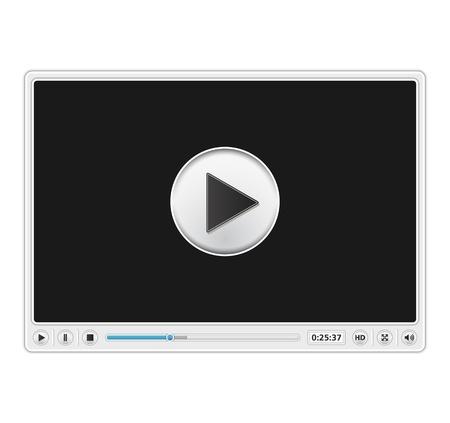 high volume: Video Player Template Illustration