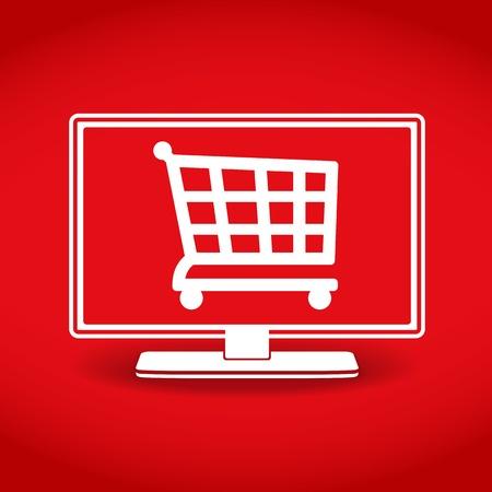 E-Commerce, online shopping icon Stock Vector - 19750414