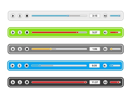 media player: Music player templates