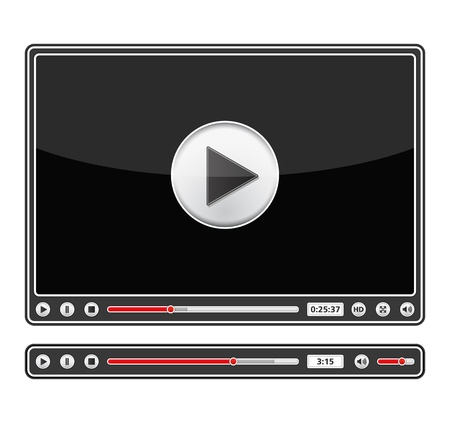 Black audio and video players Vector