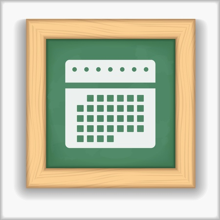 Blackboard with icon of a calendar Vector