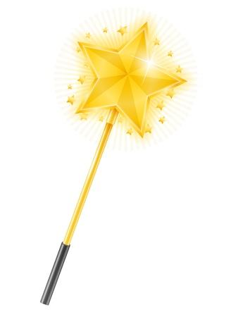 star wand: Magic Wand Illustration