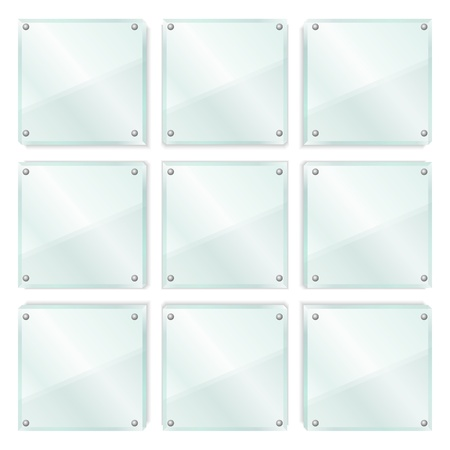 Transparent Glass Frames Vector