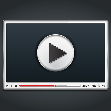 video player: White video player template