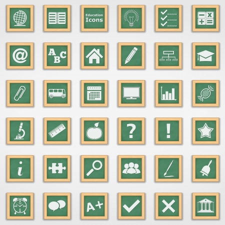 Collection of education icons Vector