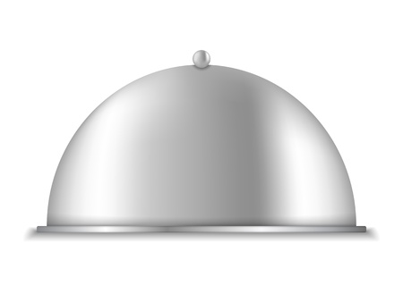 cloche: Platter on white background