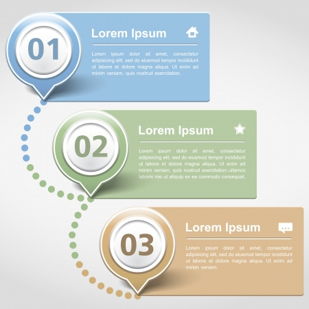 layout: Design template with three banners