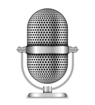 podcast: Retro Microphone Illustration