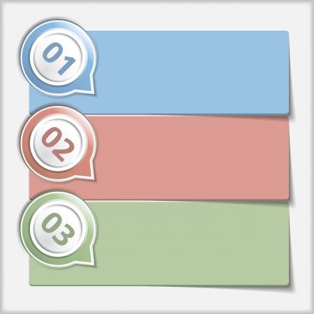 3 つの要素とデザインのテンプレート