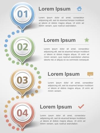 cuatro elementos: Inforgraphics plantilla de dise�o moderno con los cuatro elementos