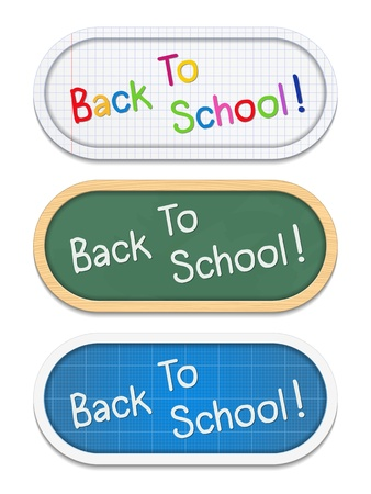 Back To School education banners Vector