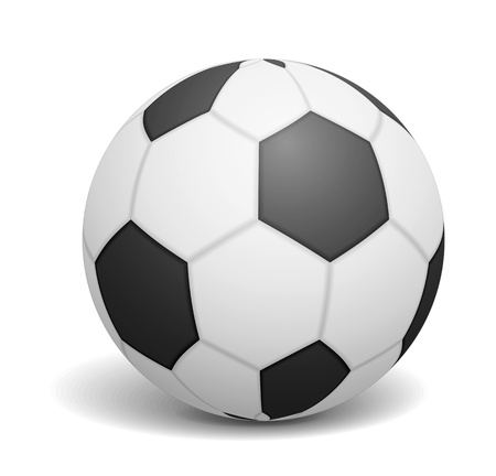 soccerball: Soccer ball on white backgrond