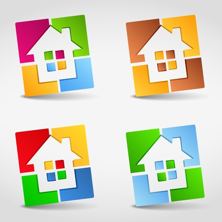 Abstract house icons Vector