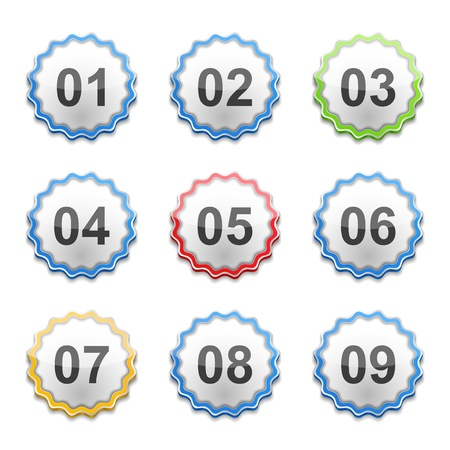 Set of labels with numbers Vector
