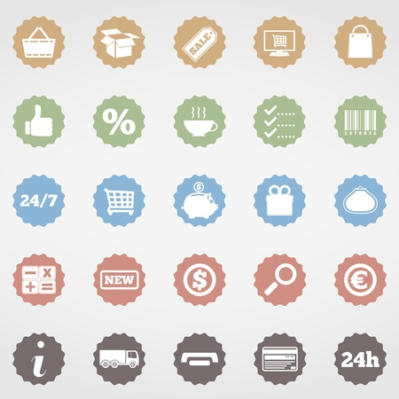 Shopping Icons Stock Vector - 20351233