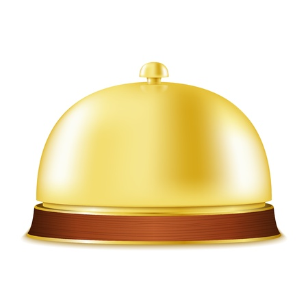 service bell: Golden service bell Illustration