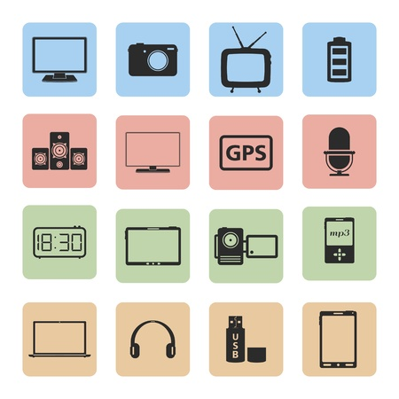 Electronics icons set Stock Vector - 20459482
