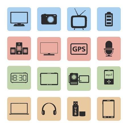 Electronics icons set Stock Vector - 20459482