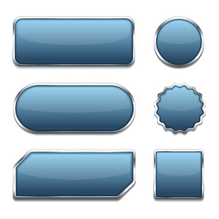 blue buttons: Blue Web Buttons Illustration