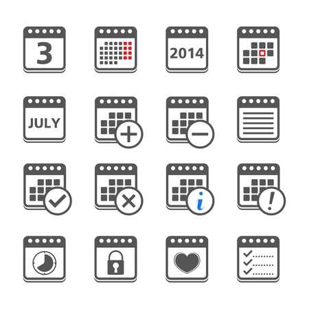 calender icon: Calendar Icons Illustration