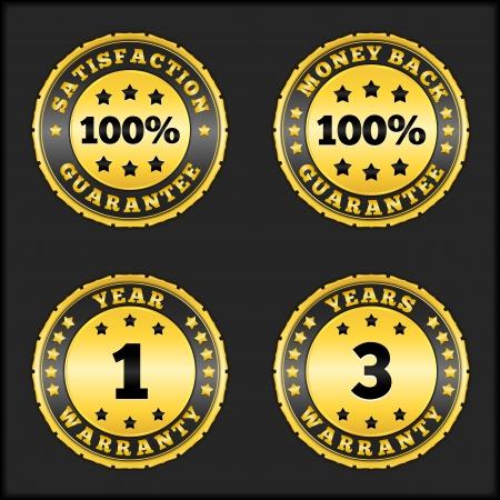 one year warranty: Guarantee badges